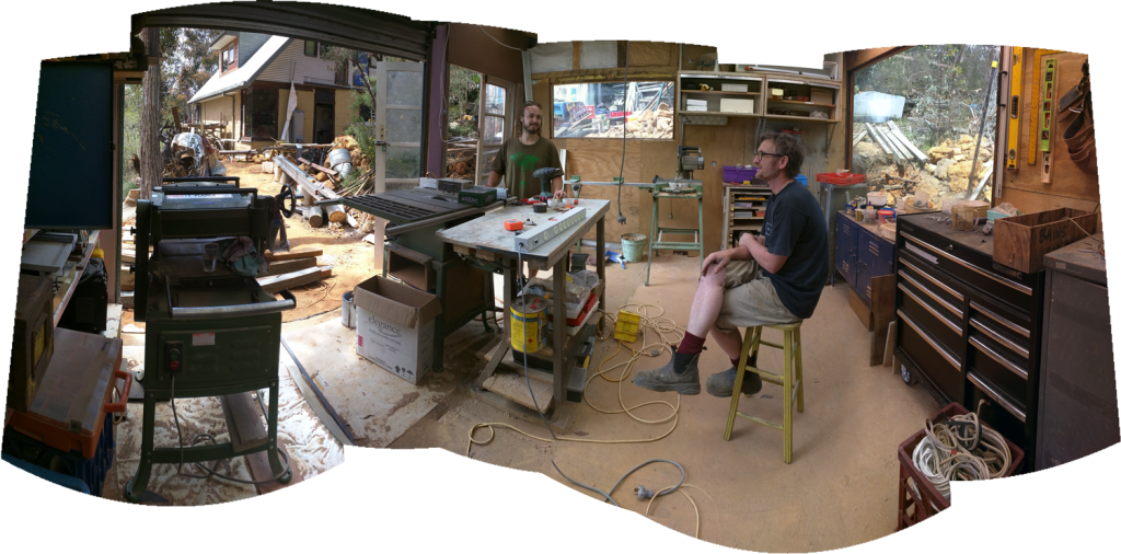An excellent panorama of the shed layout.
